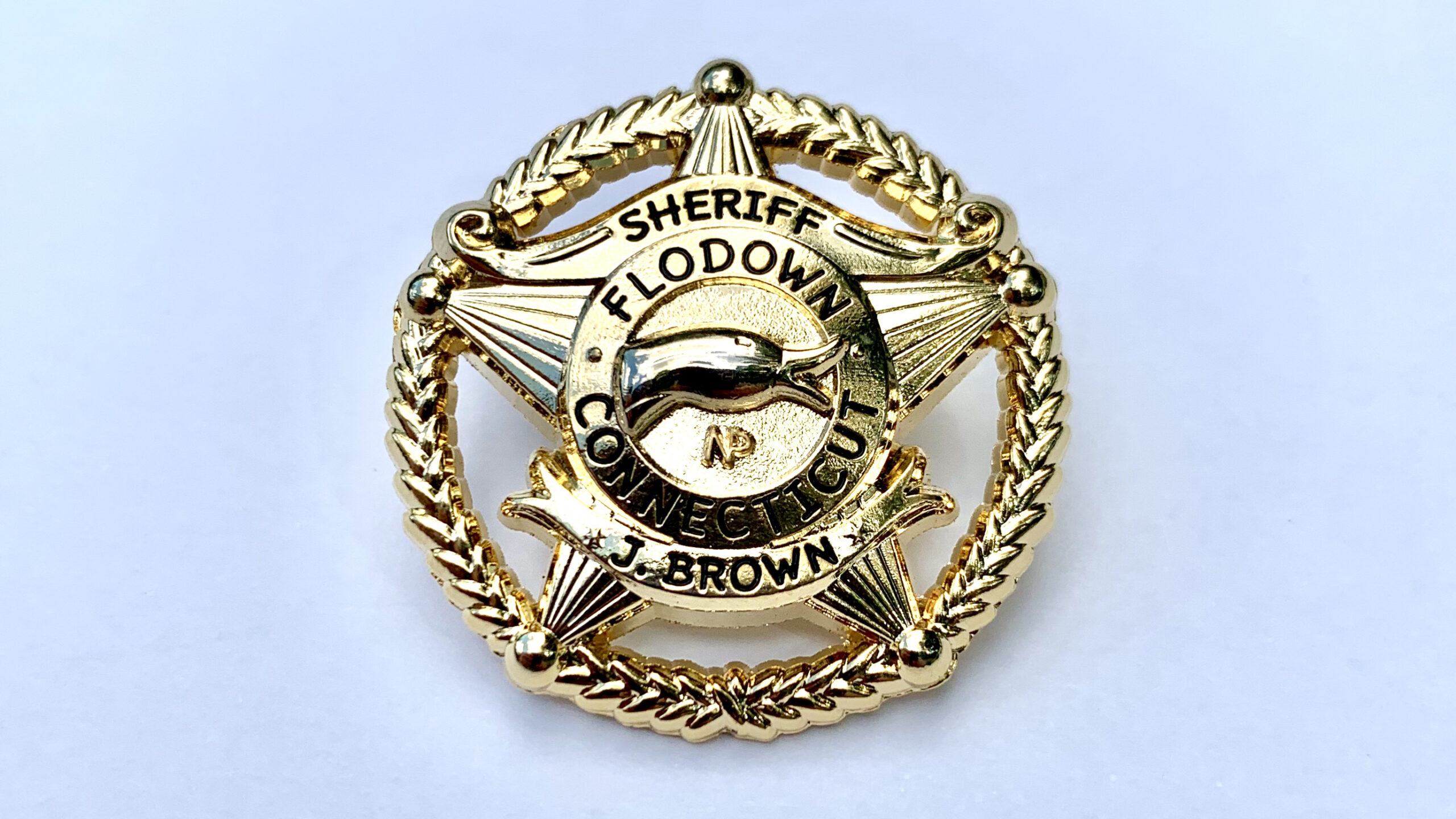 Flodown Badge - Polished Gold