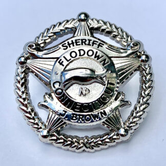 Flodown Badge - Polished Silver