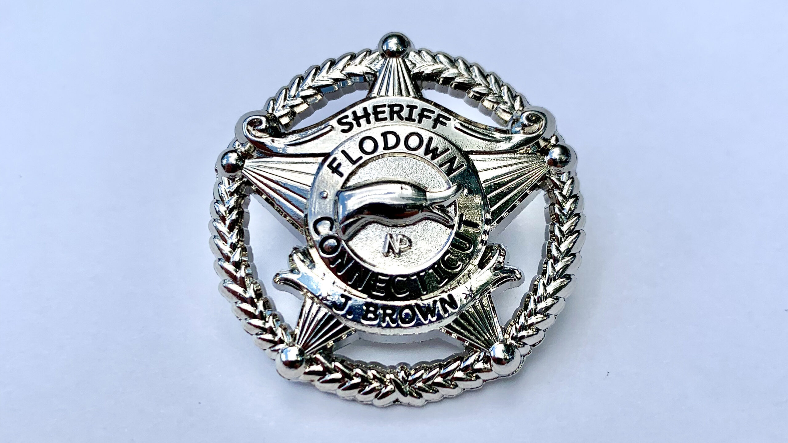 Flodown Badge - Polished Silver
