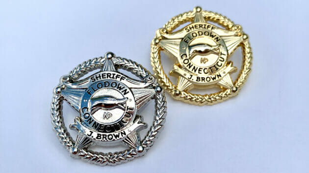 Flodown Badge - Polished Pair - 16x9