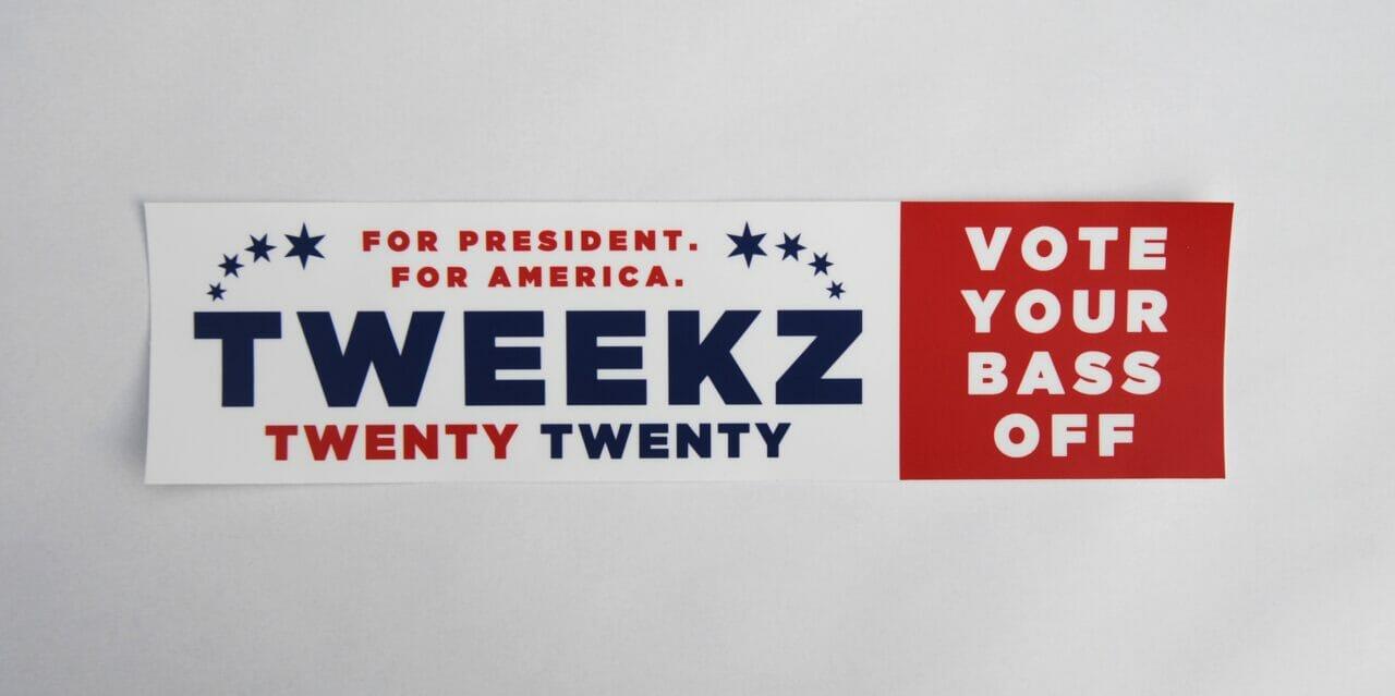 Tweekz 2020 Bumper Sticker v2 Cropped