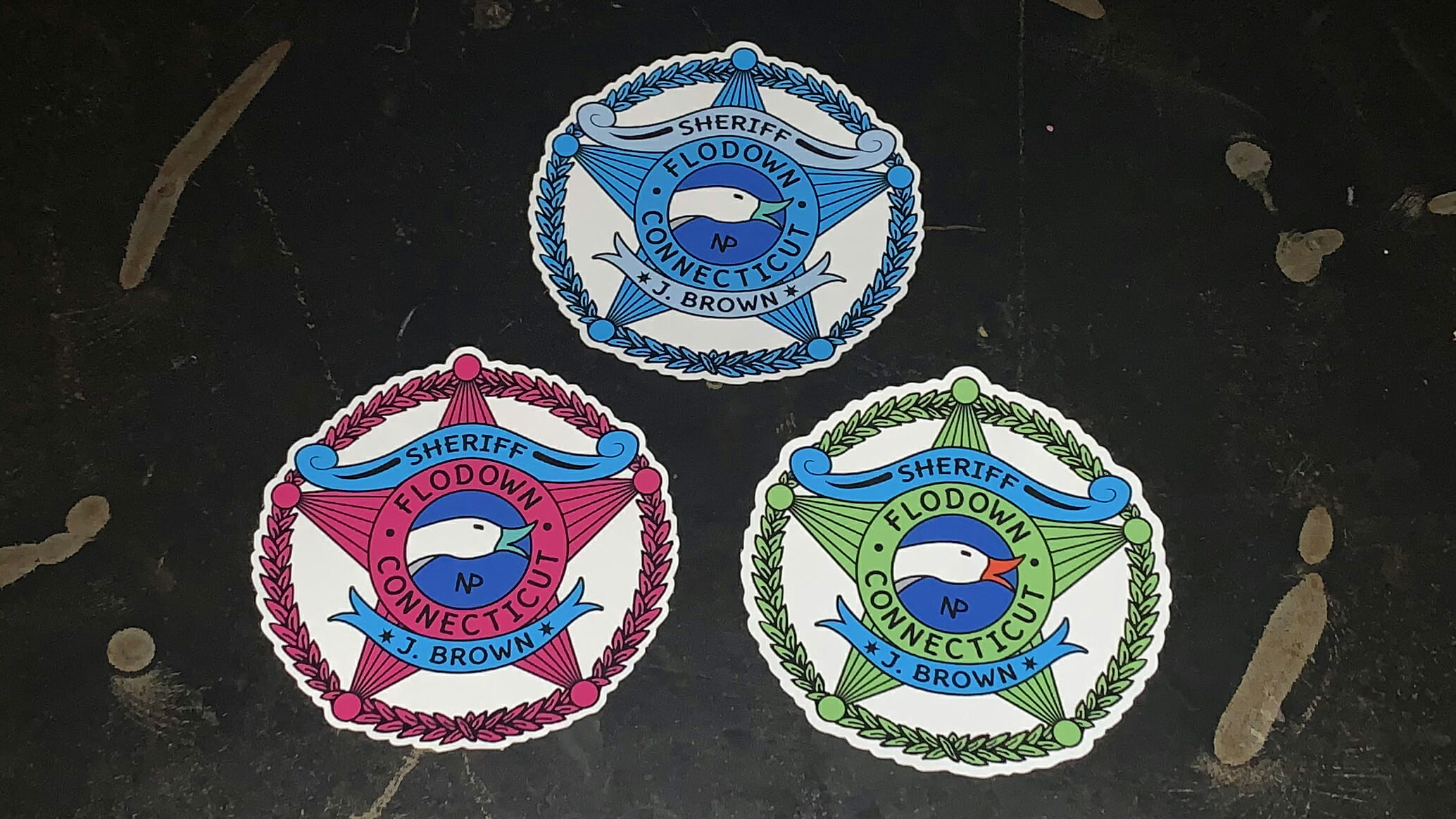NP - 2020 - Goose - Sheriff Badge - Window Clings