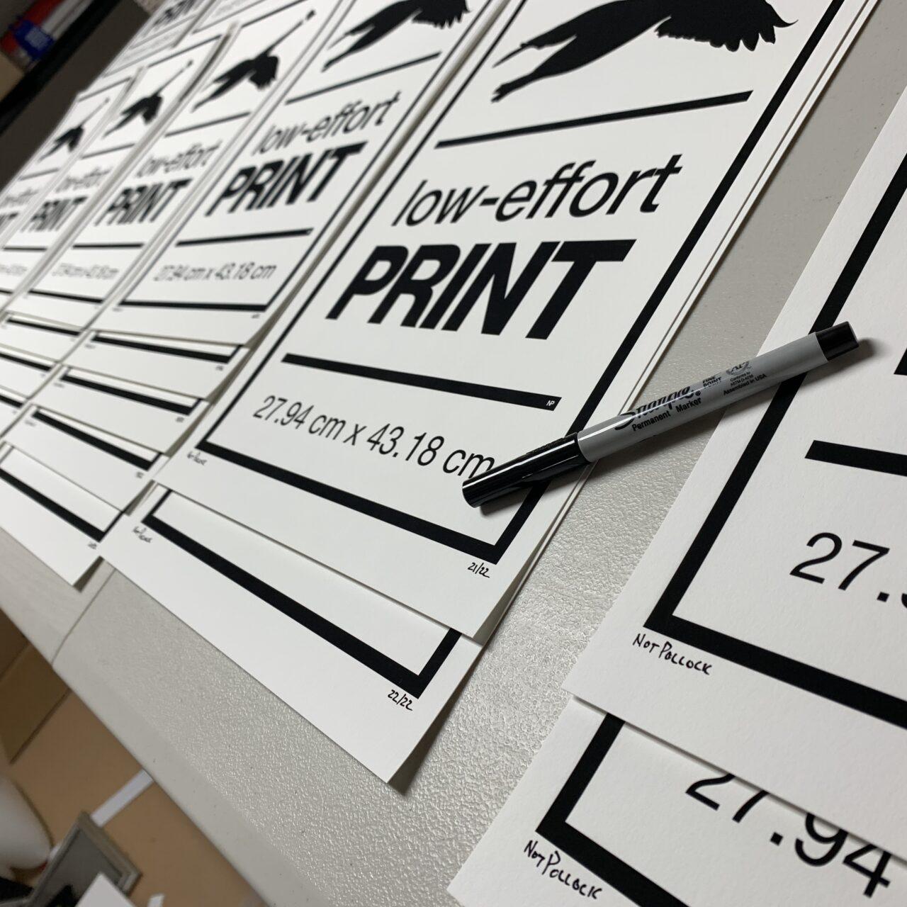 NP - 2020 - Goose - Low Effort Goose Print - v004 - 11x17 - table