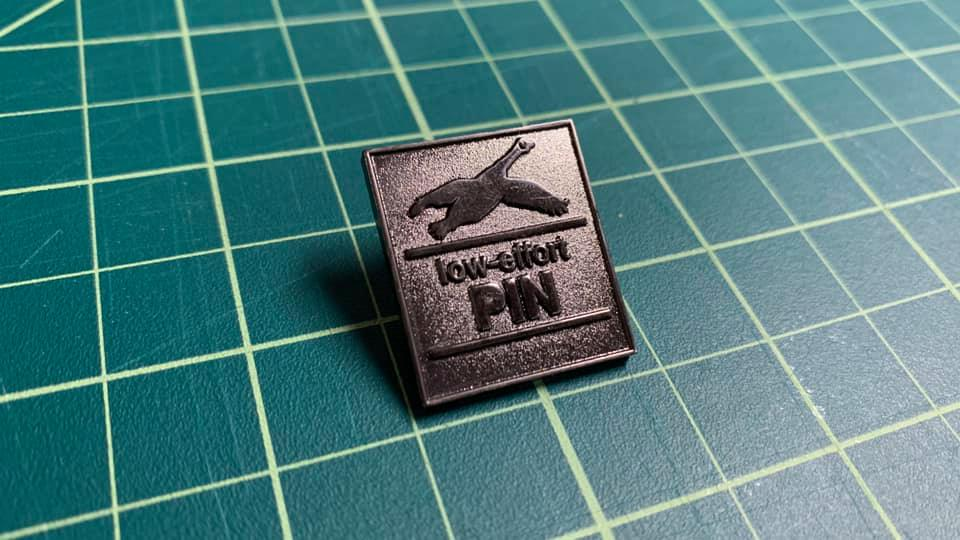 Low Effort Goose Pin - Raw Black Nickel